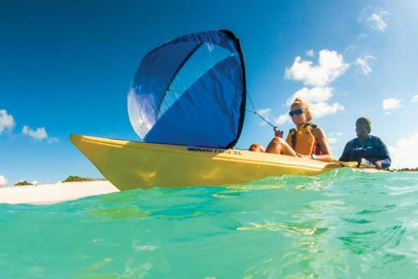 expand your territory with a kayak sail